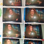 My aunt doesn't know how to program her VCR, so she took these lovely flash photographs of me off the TV. #OldSchool http://t.co/OTbrzIMmQZ