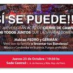 RT @PedroBordaberry: Los espero el Jueves, para repetir lo de la caravana de ayer y más! http://t.co/xtRSBEubmC