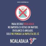 RT @noalabaja: Para decirle #NOALABAJA no importa si votas un partido, en blanco o anulado. Solo no pongas la papeleta del sí. http://t.co/0Yn1bJ3FYU