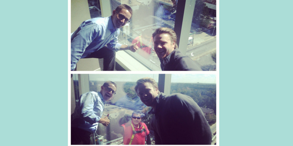 It's a good day here at the Atlanta office when the window washers stop at the 9th floor. #justsaying http://t.co/Gp0vKy09TJ