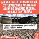 RT @MudaMais: Apesar das ofertas de Dilma, os tucanos não aceitaram ajuda do governo federal no caso Cantareira. #PSDBsecouSP http://t.co/k5ExsC00gg