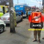 RT @niiiccoolas: 14:44 #iquique colision por alcances en Orella con héroes de la concepción 1 persona lesionada ABC en el lugar. http://t.co/53q3VfSOar