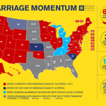 61% of Americans live in states with marriage equality. Progress is happening quicker than ever. Sorry, bigots. http://t.co/qN008cppgF