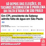"""""""@MudaMais: Só depois das eleições os tucanos reconhecem a falta dágua em SP. #PSDBsecouSP http://t.co/oyjZ6DhowK"""" #estelionatalckmin"""
