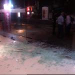 RT @deepaknrn: #Kaththi - Sathyam theatre in chennai being attacked by some goons . http://t.co/NRpF6WJ19y