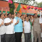 RT @MahaBJP: Maharashtra BJP united leadership at Mumbai state office after elected MLA meet http://t.co/kyX1PqV3y8