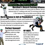 RT @Coach_Hill_MU: Marshall remains unbeaten after beating FIU this past Saturday. Relive it with this weeks Herd News. #HerdUp #Top25 http://t.co/mWh8wTzNtG