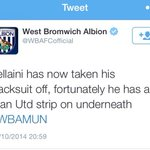 You know you bring your own bad luck on you when... #wba #WBAMUN #ManUtd #Fellaini http://t.co/KwYwDnPsyM