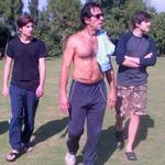 Never one 2 skip a morning workout, @ImranKhanPTI takes in some sunlights with his sons Qasim & Suleiman by his side http://t.co/X7628Fltz6