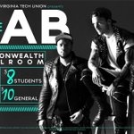 """""""@thevtu: THE CAB - October 28th in Commonwealth Ballroom! RT with hashtag to enter! See you there ???? http://t.co/m82uCvlOoj"""" #VTCallstheCab"""