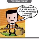 """No Tires Basura en las Calles. """"La Prevención Somos Todos"""" #TemporadaDeLluvias @cenecam @ferortegab http://t.co/nJQTHfKGDA"""