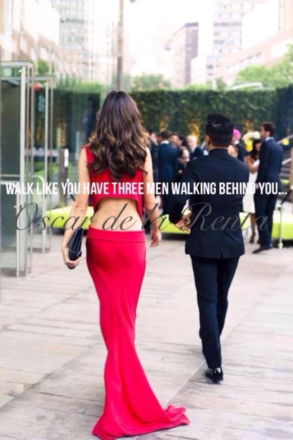 Walk like you have 3 men walking behind you. #OscardelaRenta #iconicquotes #fashionlegend http://t.co/be61Uns0xv