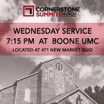 We are on the move this Wednesday. Same time! Same people! Same heart! 7:15pm this Weds at Boone United Methodist!! http://t.co/XRDCqNcQ2e