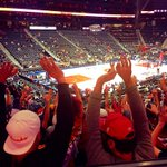 Hoop there it is! Great night in the 6th man section! Go Hawks! #ATLHawks http://t.co/qfolsUDl3T