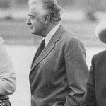 RT @australian: A giant of his time - Tony Abbott pays tribute to Gough Whitlam. http://t.co/eyqAx41RFV http://t.co/BKsaMjEuoh