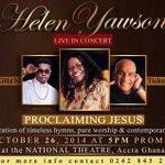 ♛ Helen Yawson Live in Concert #Ghana #ProclaimingJesus http://t.co/QM6oKmBpWz cc @HELENYAWSON http://t.co/PEMp8ukl9c