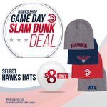 Tonights Slam Dunk Deal gives you a sweet deal on hats! Get them at the Hawks Shop or on http://t.co/7AGHEAHhaw http://t.co/CTubA66i3j