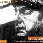 """RT @pachyta7: """"@nacioncl: Un 21 de octubre de 1971, Pablo Neruda ganó el premio Nobel de Literatura. #Chile http://t.co/g8I0WKo5om http://t.co/LWWiXoRSMw"""