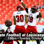Get up Red Wolves, ITS GAME DAY! @RedWolvesFBall plays at ULL at 7pm, tonight on ESPN 2. http://t.co/ZSxQf4ZmB3 http://t.co/pAH1pys6Wk