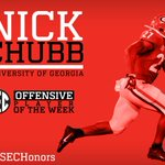 #SECHonors: @FootballUGA Nick Chubb named #SEC Offensive Player of the Week: http://t.co/BYb9CYdhsz
