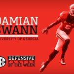 RT @SEC: #SECHonors: @FootballUGA Damian Swann named #SEC Defensive Player of the Week: http://t.co/1DOsibPZW1
