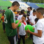 The team met local youth and donated @oneworldfutbol balls after training today in Honduras. #HondurasAway #RCTID http://t.co/ctsJWpl6th