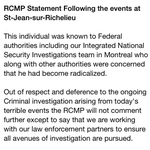 RT @VassyKapelos: And heres the RCMP statement on Saint-Jean-sur-Richelieu #cdnpoli PIC http://t.co/tQzV4AEWuO