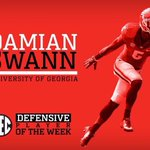 #SEC honors for UGA: Damian Swann named Defensive Player of the Week. Nick Chubb named Offensive Player of the Week. http://t.co/dVBoSLNe9k