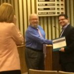 Way to go @eshileman recognized tonight at the @OKCPS board meeting: #OklaEd @ota_oktech Tech Director of the Year! http://t.co/XBWoD6uxT7