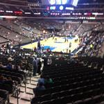 Mavs just took the court for preseason home finale vs. Grizz. Could almost do an AAC head count. http://t.co/v7QxxxYJfh
