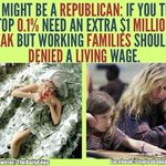 RT @TheDailyEdge: Theyd rather give millionaires another tax break than working families a living wage. #StopTheGOP http://t.co/8AWF2pnQD6