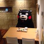 タニタのお味噌汁を飲むくまモン http://t.co/pQp6o3iF6q