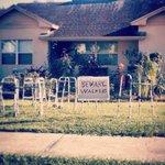 Walking Dead inspired Halloween decorations! Take note #YQL senior homes. http://t.co/oYAvvS4GVq