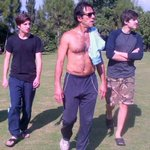 RT @siasatpk: @ImranKhanPTI during exercise along with his sons http://t.co/NV6g5CtWxQ