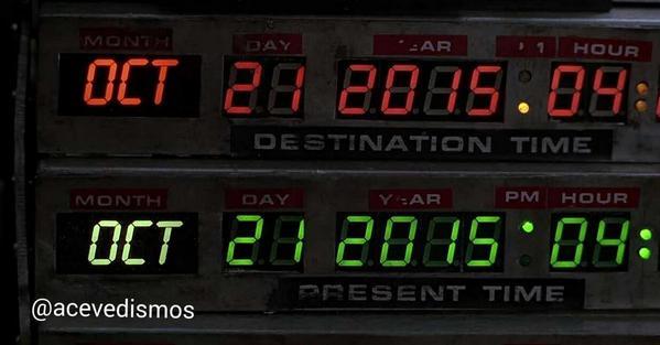 Atención: Hoy es 21/10/2014. Falta exactamente un año para que Marty McFly llegue desde el pasado. ¡Qué nervios! ¿No? http://t.co/YWKnG5yS92