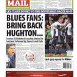 Tuesdays Birmingham Mail back page: BLUES FANS: BRING BACK HUGHTON... #Birmingham #BCFC http://t.co/SY0q5TD0gv