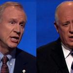 Did you see this? Rauner, Quinn Square Off In Final Debate http://t.co/WPIWdLBOaD http://t.co/8wrPtjuVGg