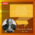Oscar de la Renta, an icon in the fashion industry, dies at age 82. #RIPOscarDeLaRenta http://t.co/iNITty3hbc