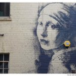 Nice new Banksy in Bristol - Girl with a Pearl Earring http://t.co/EnJkrzex5P