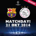#MATCHDAY!! Zijn jullie klaar voor een heerlijk avondje @ChampionsLeague? #UCL #baraja http://t.co/fVUYEfeKV7