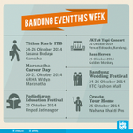 Hari ini masih bingung mau kemana? Cek dulu dong event2 keren di Bandung #eventBDG http://t.co/cGOYvvEHOt