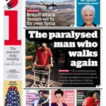 THE PARALYSED MAN WHO WALKS AGAIN - the extraordinary medical breakthrough. Also on front of Indy, Times +on Panorama http://t.co/aC99YPl7GP