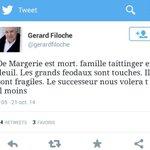 La France perd lun de ses plus grands patrons. Filoche, membre du bureau national du PS linsulte. #honte #Margerie http://t.co/Of9JBFFY8W