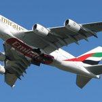 Letzter in Flugzeugwerken gewarteter A380 von Emirates ist in #Dresden nach Dubai gestartet. Mehr Fotos auf Facebook! http://t.co/1stK6J5Xx1