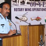 Chief of Air Staff, Air Chief Marshal Arup Raha at a symposium to commemorate 60 Yrs of Rotary Wing Op in India & IAF http://t.co/wLLY5NzvTC