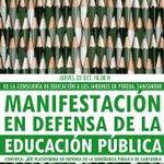 Apoyamos las movilizaciones del jueves 23 de octubre en defensa de la educación pública en #Santander, #Cantabria. http://t.co/5EPYLmilCB