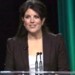 Monica Lewinsky tears up during speech about life after Bill Clinton. http://t.co/66djotSK9j http://t.co/P8388NkIzK