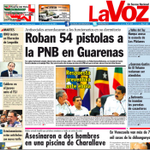 #21oct [Titulares] La Voz. Roban 54 pistolas a la PNB en Guarenas. #360UCV http://t.co/y6lHcPklAN