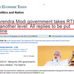 RT @Purple_Truth: Narendra Modi government takes RTI to another level: All replies to be put online >> http://t.co/KnuAl6OFJr