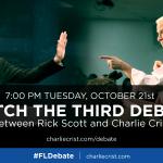 Watch Tuesdays #FLDebate between @CharlieCrist and Rick Scott. All the info you need: http://t.co/VH8txt0FVt http://t.co/4ivNfiuExM